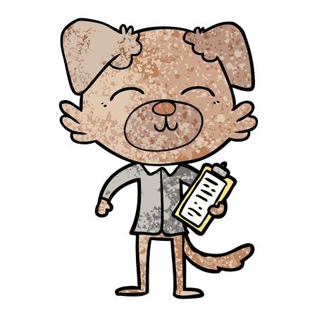 cartoon dog manager Vector illustration. Ilustracja