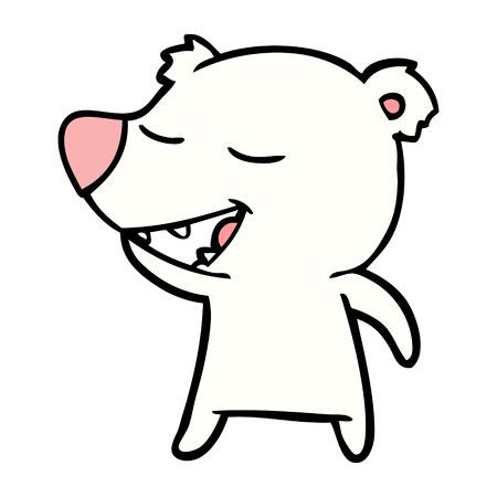 polar bear cartoon vector illustration.