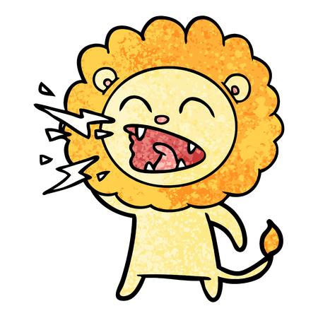 Lion rugissant de dessin animé Banque d'images - 94705997