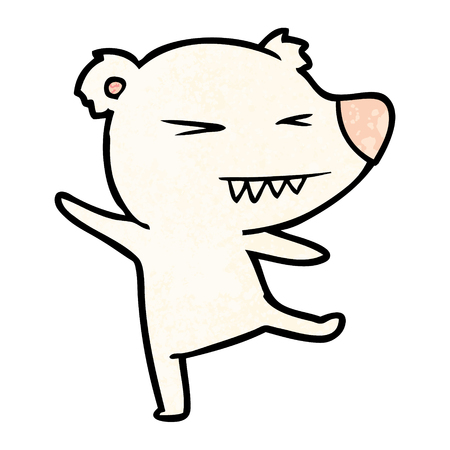 dancing polar bear cartoon Illustration