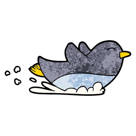 cartoon penguin sliding Vector illustration. Illustration