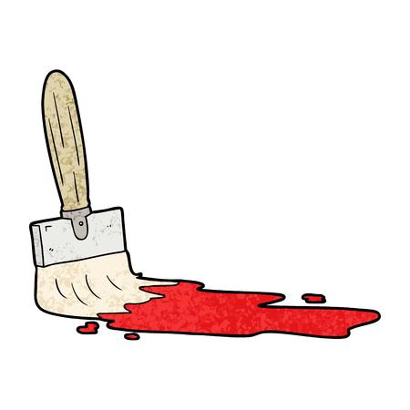 cartoon paint brush Vector illustration. 向量圖像