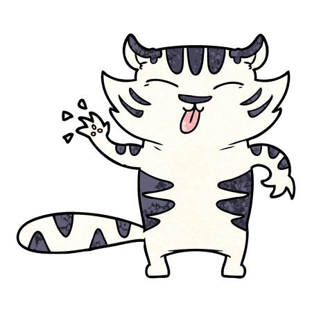 Tigre blanc dessin animé Banque d'images - 94693658