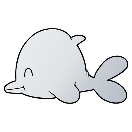 cartoon dolphin illustration Illustration