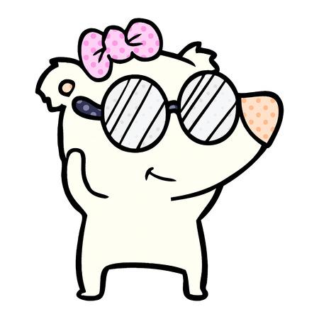female polar bear cartoon