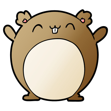 cartoon hamster illustration
