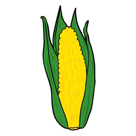 Milho orgânico dos desenhos animados Foto de archivo - 94741830