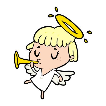 Niedlicher Cartoonengel Standard-Bild - 94700677