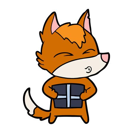 現在のキツネの漫画のキャラクター