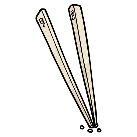 cartoon chopsticks illustration