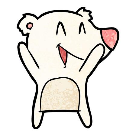 laughing polar bear cartoon
