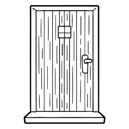 Fumetto illustrazione della porta. Archivio Fotografico - 94742437