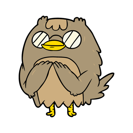 cute cartoon wise old owl
