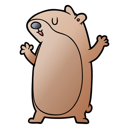 cartoon gerbil illustration