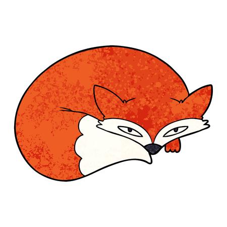 Cartoon zusammengerollt Fuchs