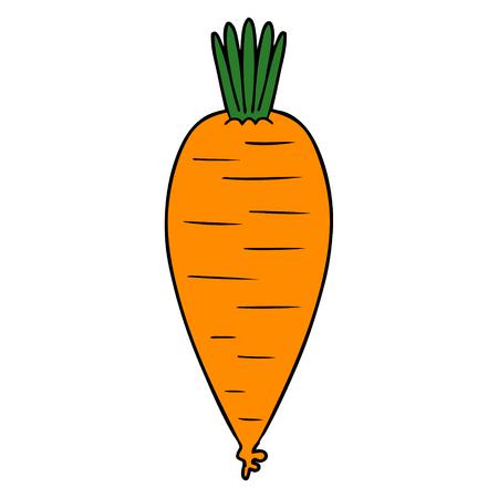 cartoon carrot illustration. Ilustracja