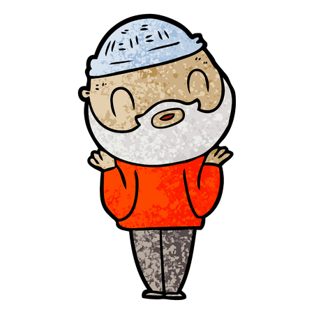 cartoon bearded man Çizim