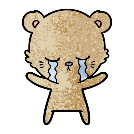 crying bear cartoon character