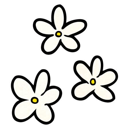 漫画の花のイラスト。