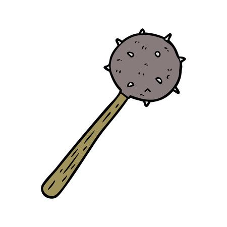 cartoon middeleeuwse foelie wapen