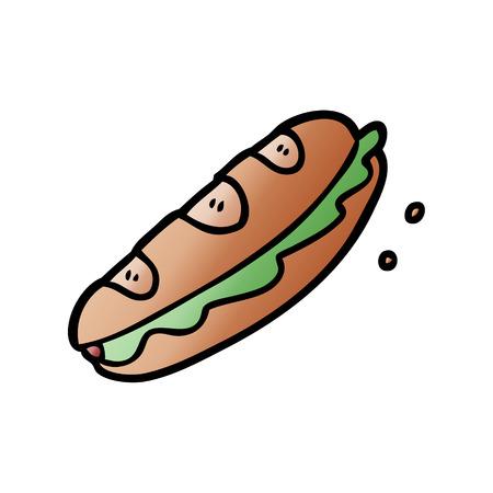 漫画サンドイッチイラスト。