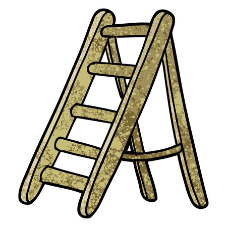 cartoon ladder illustration.