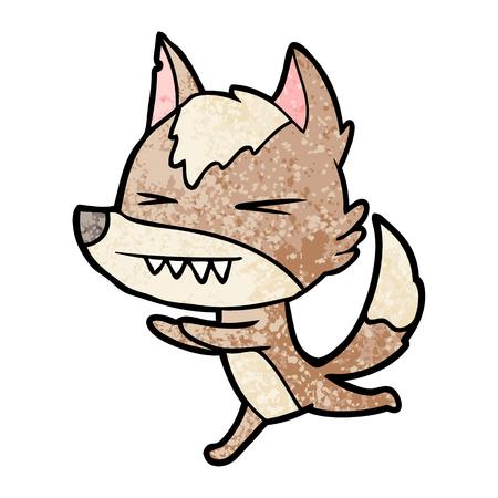 화난 늑대 달리기