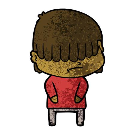 cartoon boy with untidy hair Zdjęcie Seryjne - 94701371
