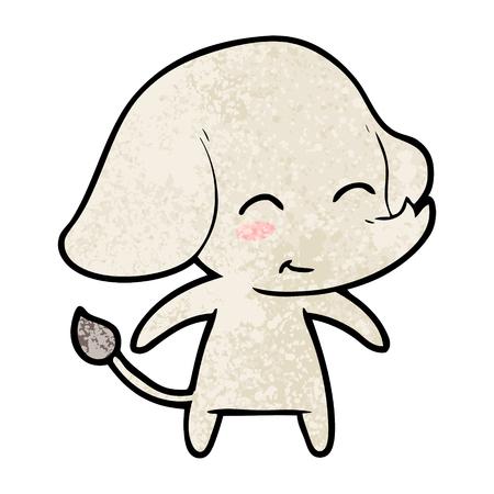 Elefante de dibujos animados lindo Foto de archivo - 94701299