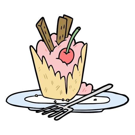 Sobremesa saborosa dos desenhos animados Foto de archivo - 94701460