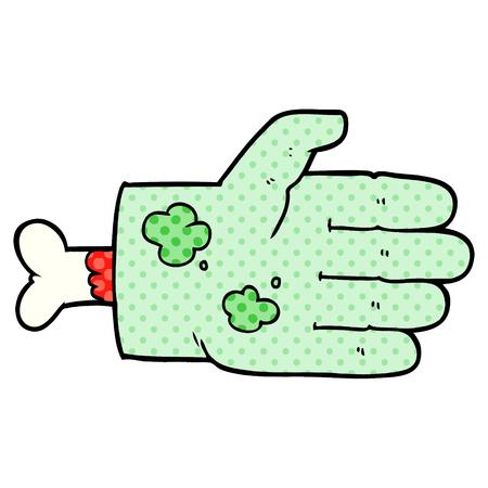 Mão de zumbi dos desenhos animados Foto de archivo - 94701501