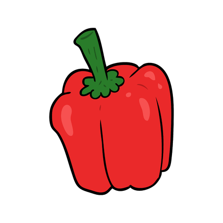 cartoon fresh organic pepper