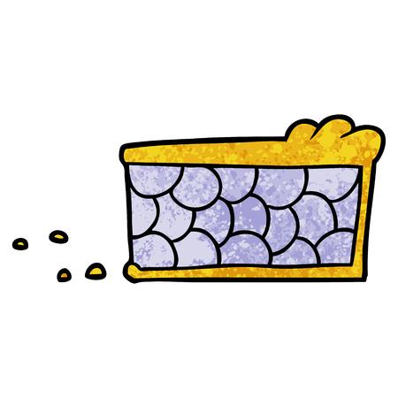 cartoon pie slice Illustration