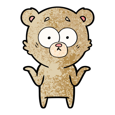 cartoon bear shrugging shoulders