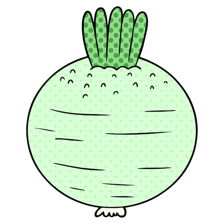 cartoon turnip illustration
