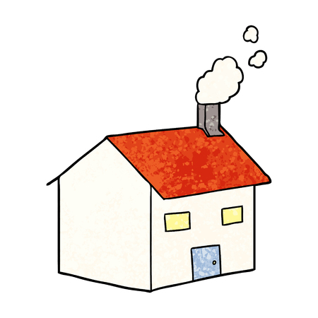 cartoon house illustration 向量圖像