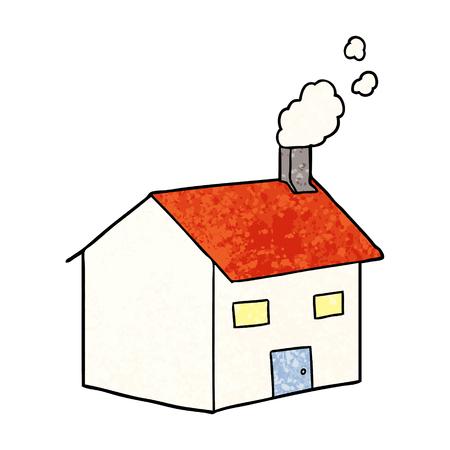 cartoon house illustration Illustration