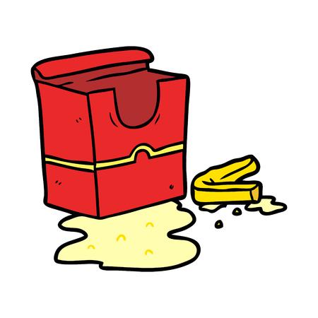 フライドポテトの漫画空箱