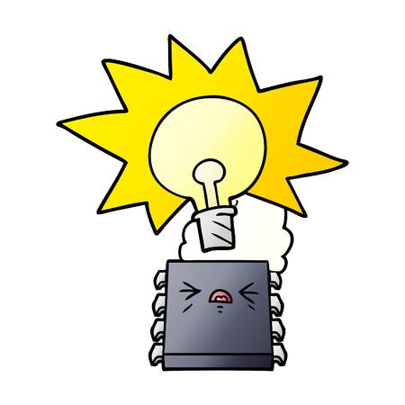 만화 컴퓨터 칩 과열
