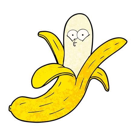 cartoon banana with face