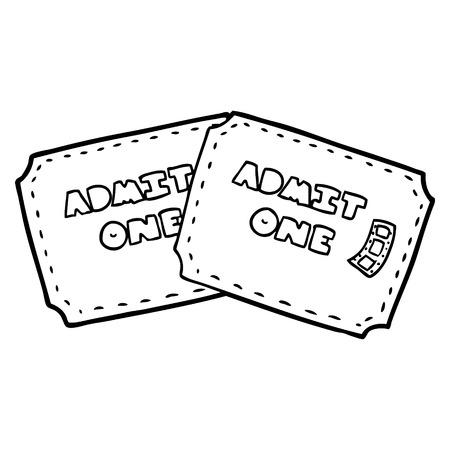 cartoon tickets illustration