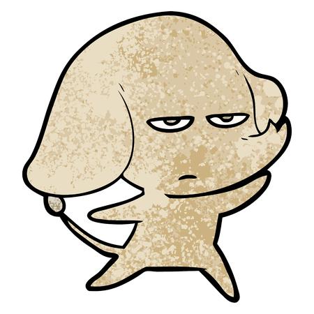 annoyed cartoon elephant Illustration