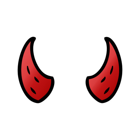 cartoon devil horns 版權商用圖片 - 94742241