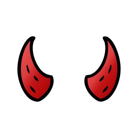 cartoon devil horns