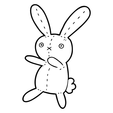 cartoon toy rabbit vector illustration.