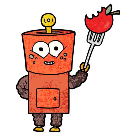 happy cartoon robot waving hello Stock Vector - 94727977