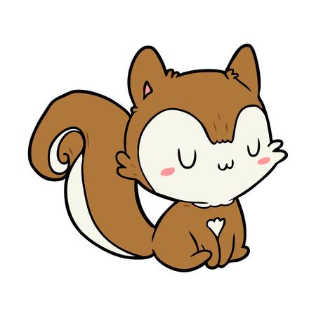 cartoon squirrel vector illustration. Illustration