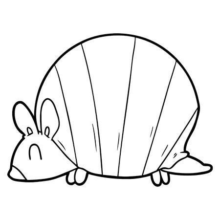 cartoon armadillo Иллюстрация