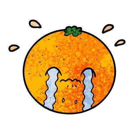 cartoon oranje huilen
