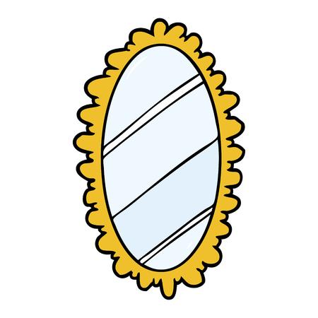 cartone animato vecchio specchio incorniciato